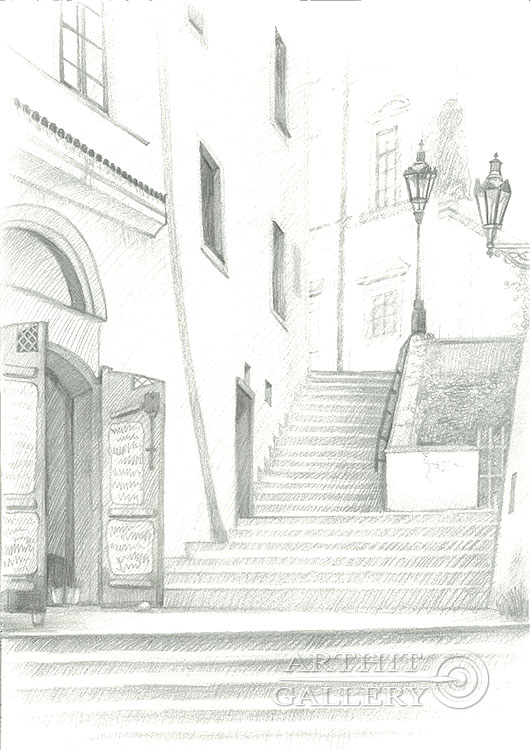 'Loretanskaya steps, Prague'. Klymenko Ivan