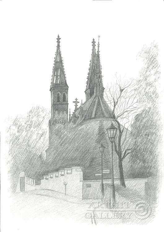 'Basilica of St. Peter and St. Paul, Vysehrad'  by Klymenko Ivan