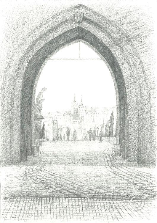 'Arch, Old Town Bridge Tower,   Prague'. Klymenko Ivan