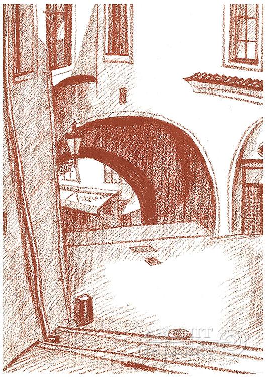 'Arch, Town Hall Stairs, Prague'. Klymenko Ivan