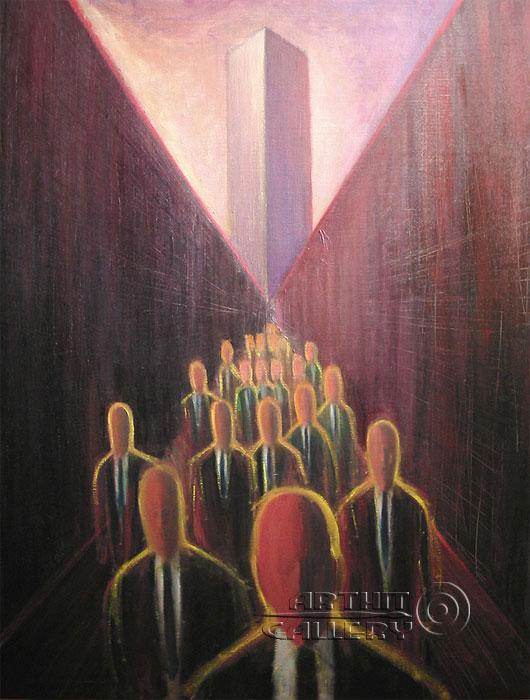 ''Закат на холме''.  Юдзюань Дайцуке. Продажа картин, предметов декоративно-прикладного искусства