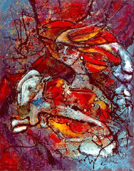 'Lady with a dog'  by Yaguzhinskaya Wolga