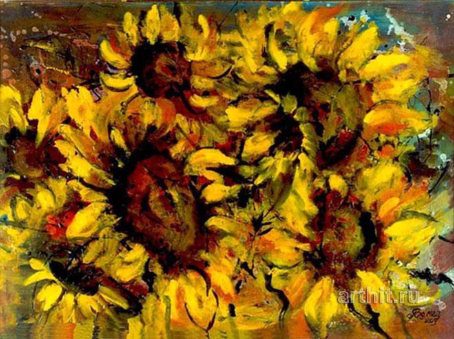 'Sunny flowers'  by Yaguzhinskaya Wolga