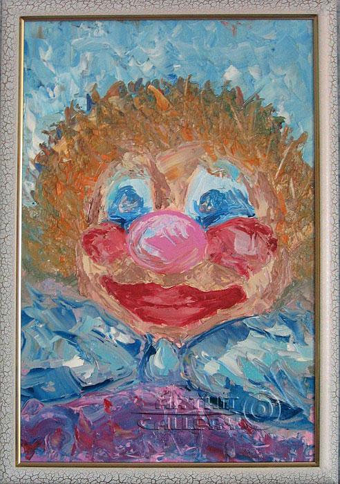 ''Шутка (Весёлый клоун)''.  Соболь Галина. Продажа картин, предметов декоративно-прикладного искусства