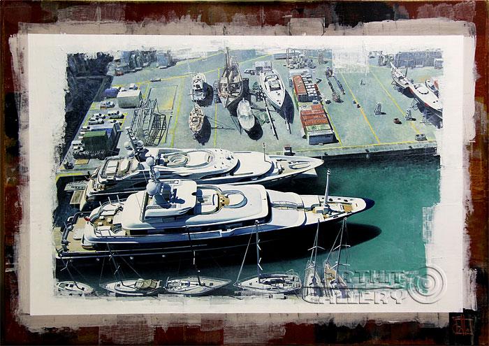 ''Лодки''.  Aln Владимир. Продажа картин, предметов декоративно-прикладного искусства