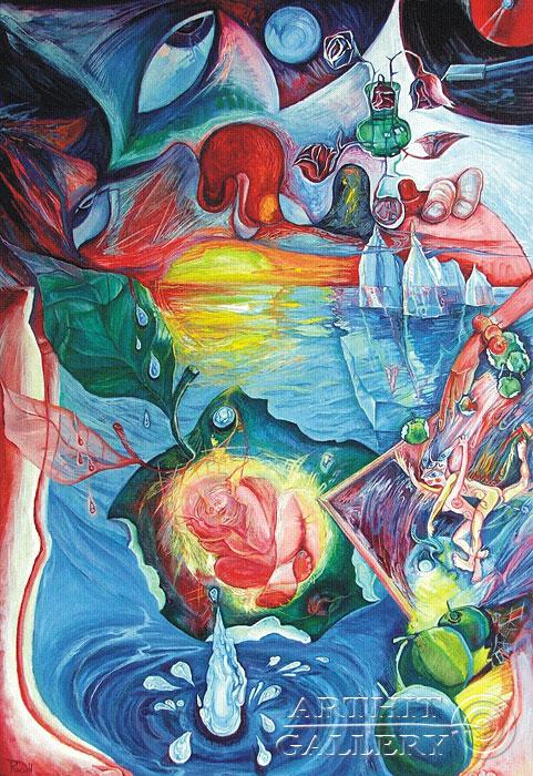 ''Колесо любви''.  Жамалов Ринат. Продажа картин, предметов декоративно-прикладного искусства