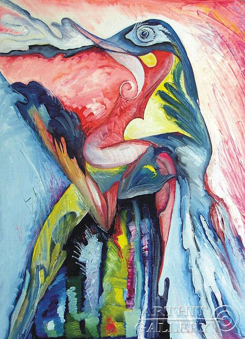 ''Фиолетовый оргазм''.  Жамалов Ринат. Продажа картин, предметов декоративно-прикладного искусства