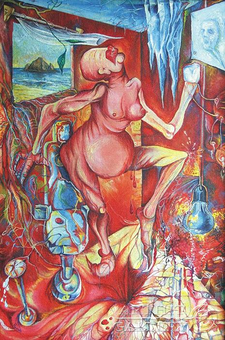 ''Зубная боль''.  Жамалов Ринат. Продажа картин, предметов декоративно-прикладного искусства