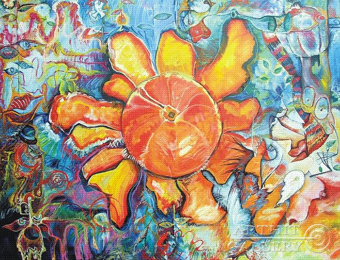 ''Мандариновое настроение''.  Жамалов Ринат. Продажа картин, предметов декоративно-прикладного искусства