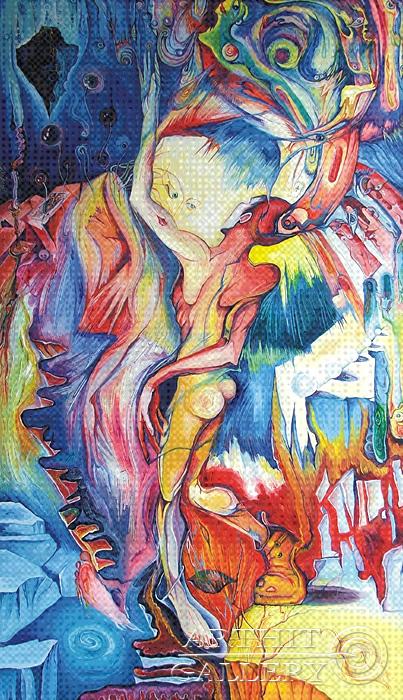 ''Колдовство''.  Жамалов Ринат. Продажа картин, предметов декоративно-прикладного искусства