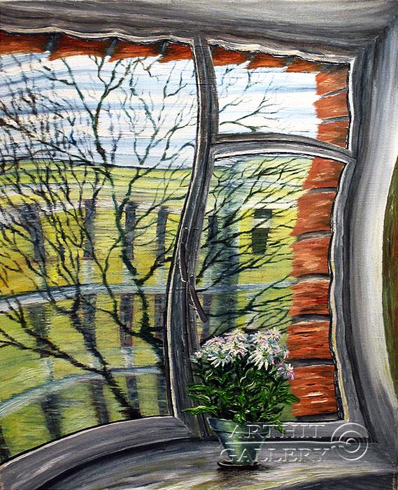 ''Через Окно''.  Левашенко Давид. Продажа картин, предметов декоративно-прикладного искусства