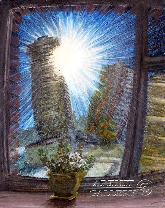 ''Мутное Окно''.  Левашенко Давид. Продажа картин, предметов декоративно-прикладного искусства