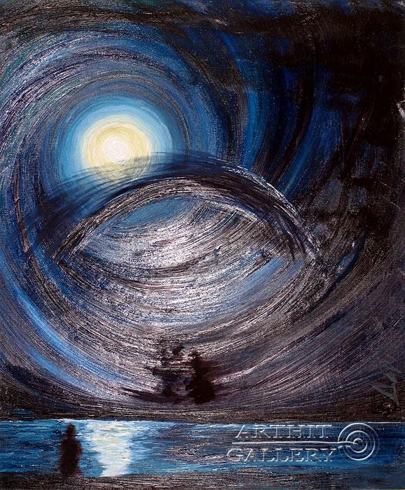 ''Ночной полет''.  Левашенко Давид. Продажа картин, предметов декоративно-прикладного искусства