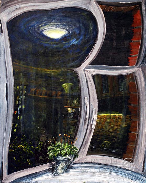 ''На Окно''.  Левашенко Давид. Продажа картин, предметов декоративно-прикладного искусства