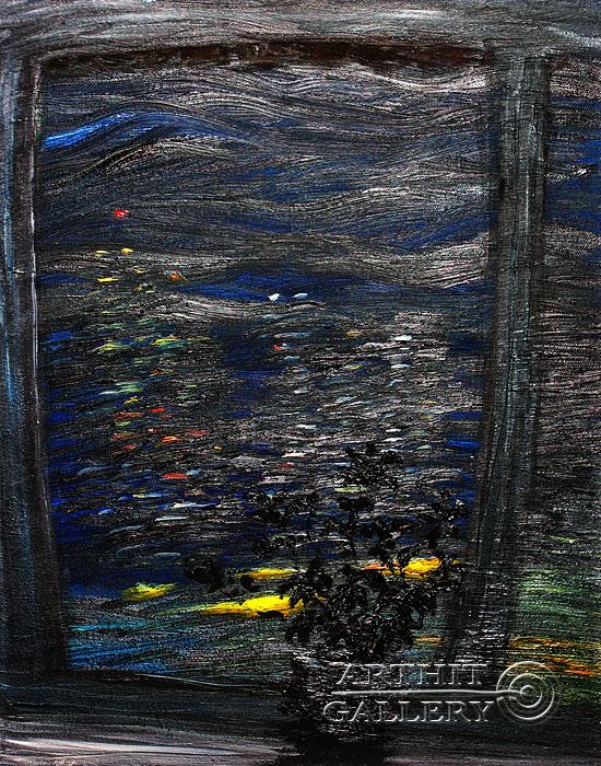 ''Ночь За Окном''.  Левашенко Давид. Продажа картин, предметов декоративно-прикладного искусства