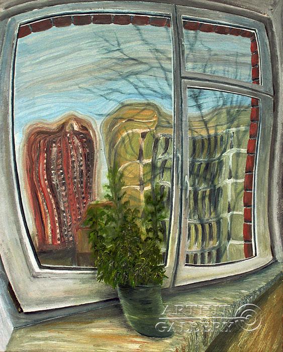 ''Перед Окном''.  Левашенко Давид. Продажа картин, предметов декоративно-прикладного искусства