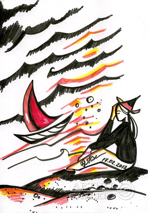 ''На берегy...''.  Сыроватская Наталья. Продажа картин, предметов декоративно-прикладного искусства