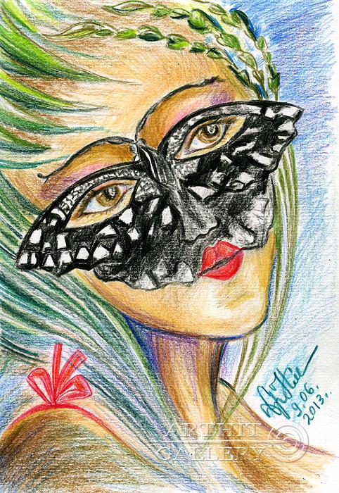 ''Бабочка''.  Сыроватская Наталья. Продажа картин, предметов декоративно-прикладного искусства