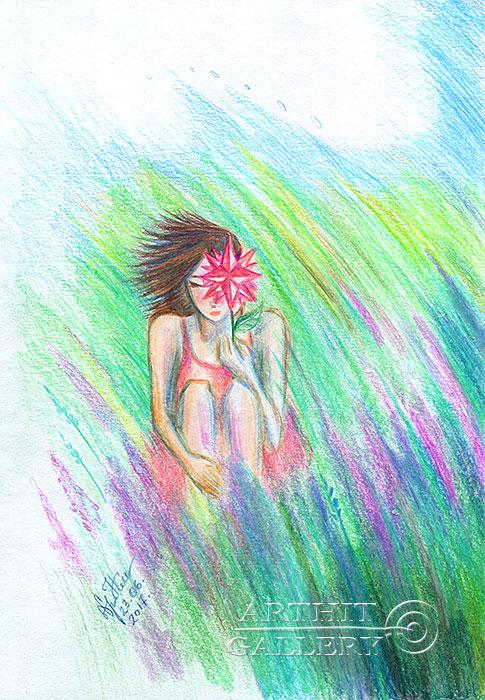 ''Роза ветров''.  Сыроватская Наталья. Продажа картин, предметов декоративно-прикладного искусства