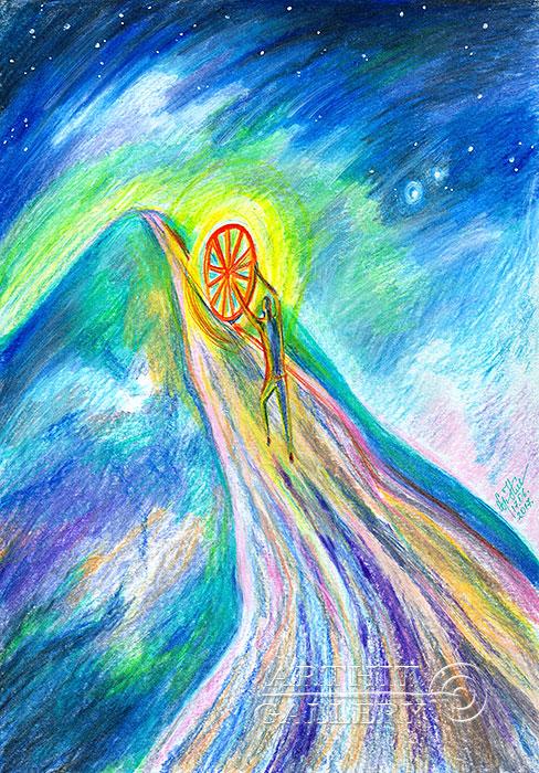 ''Колесо жизни...''.  Сыроватская Наталья. Продажа картин, предметов декоративно-прикладного искусства