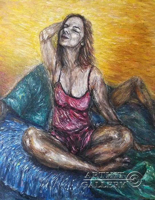 ''Счастливое утро ''.  Петрова Ирина. Продажа картин, предметов декоративно-прикладного искусства