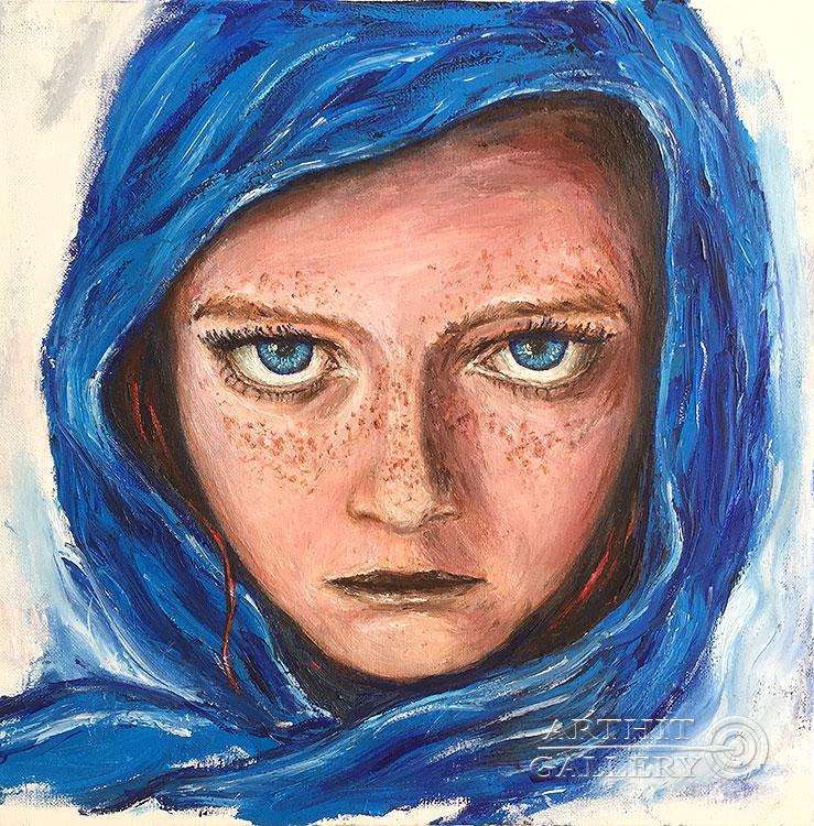 'In blue'. Petrova Irina