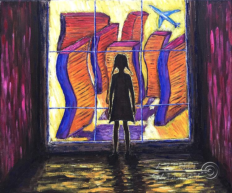 'The girl and her world (quarantine theme)'. Petrova Irina