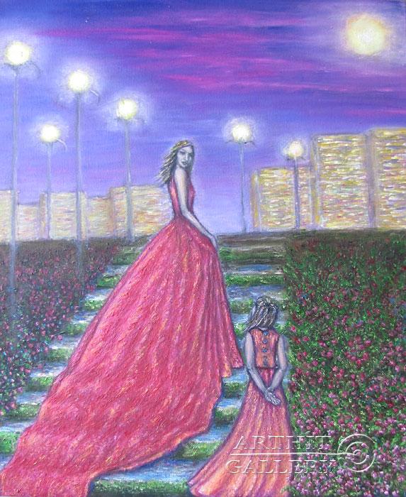 ''Волшебный вечер''.  Петрова Ирина. Продажа картин, предметов декоративно-прикладного искусства