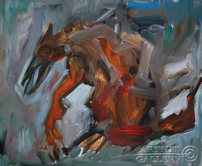 ''Летающий ящер''.  Еремова Светлана. Продажа картин, предметов декоративно-прикладного искусства