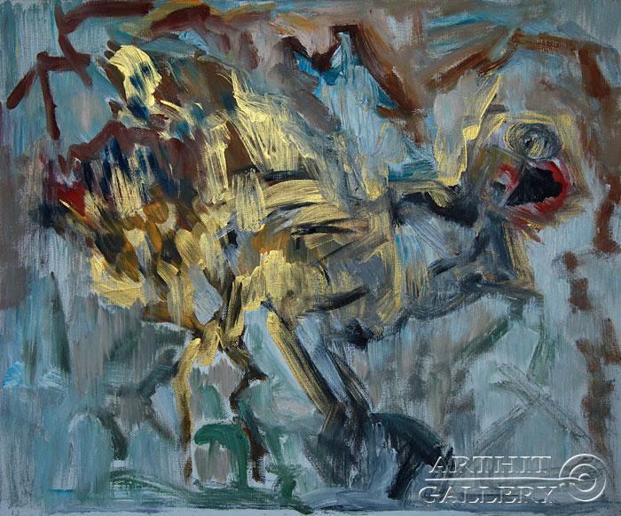 ''Древняя птица''.  Еремова Светлана. Продажа картин, предметов декоративно-прикладного искусства