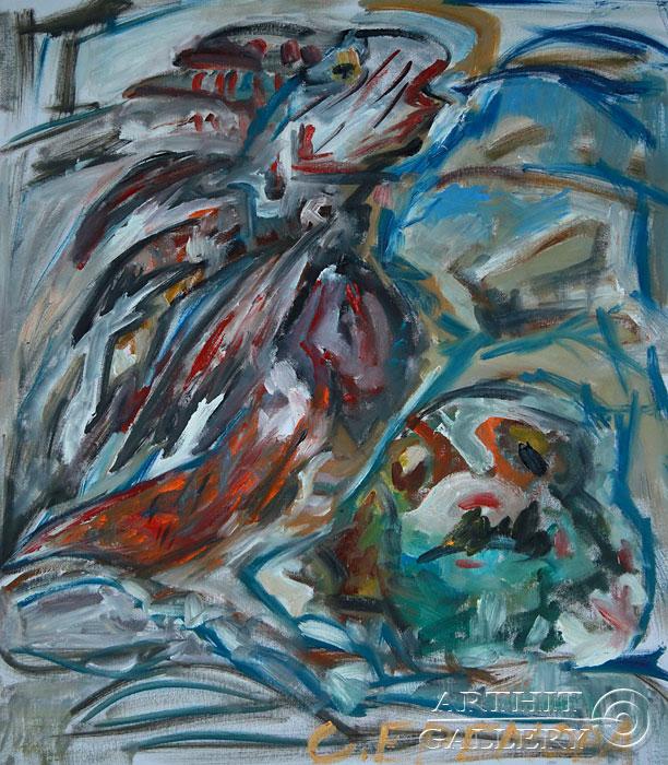 ''Рыба-собака и рыба-лев''.  Еремова Светлана. Продажа картин, предметов декоративно-прикладного искусства