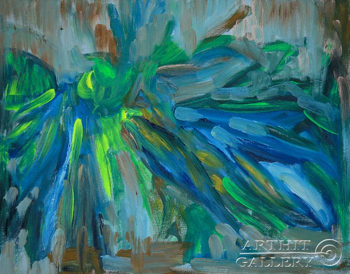''Зелень''.  Еремова Светлана. Продажа картин, предметов декоративно-прикладного искусства