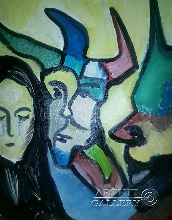 ''Разврат''.  Туманян Эмма. Продажа картин, предметов декоративно-прикладного искусства