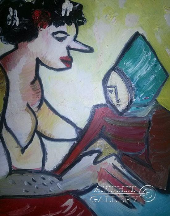 ''Совет''.  Туманян Эмма. Продажа картин, предметов декоративно-прикладного искусства