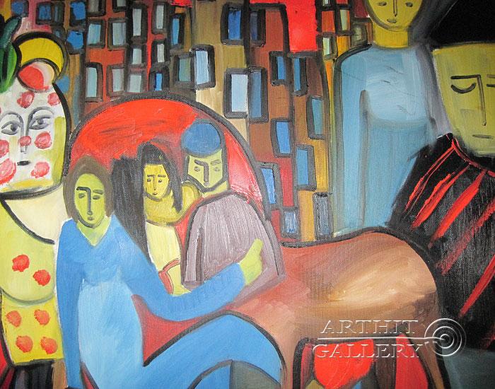 ''Переполох''.  Туманян Эмма. Продажа картин, предметов декоративно-прикладного искусства
