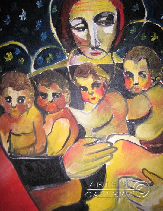 ''Богородица''.  Туманян Эмма. Продажа картин, предметов декоративно-прикладного искусства