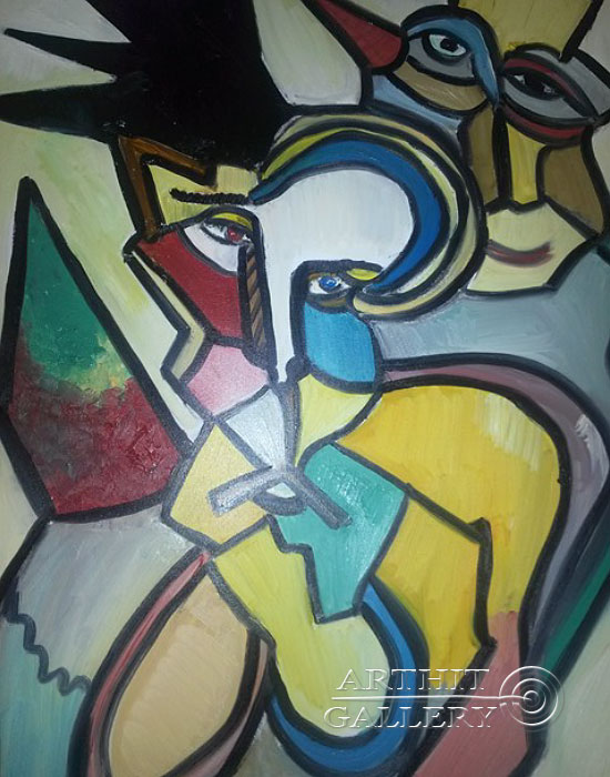 ''Дань уважения к Пикассо''.  Туманян Эмма. Продажа картин, предметов декоративно-прикладного искусства