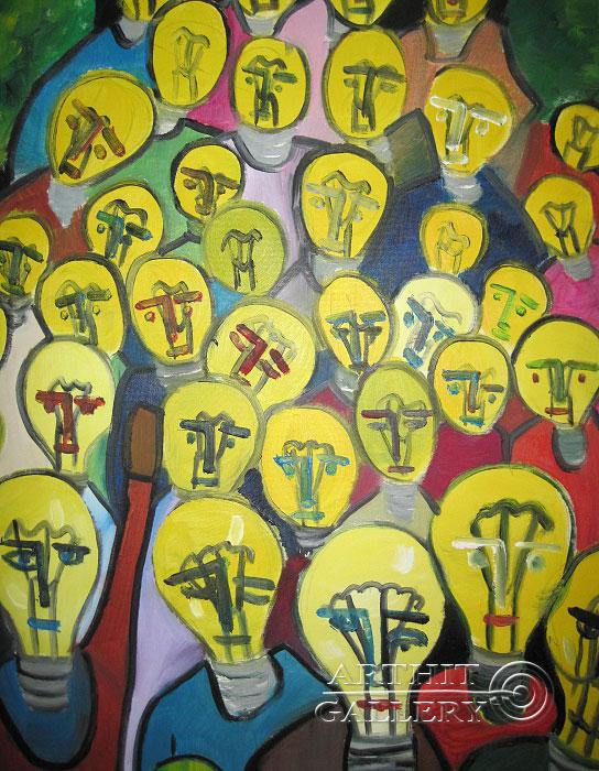 ''Световой хаос''.  Туманян Эмма. Продажа картин, предметов декоративно-прикладного искусства