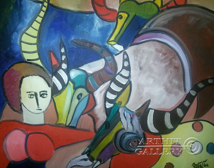 ''Зевс''.  Туманян Эмма. Продажа картин, предметов декоративно-прикладного искусства
