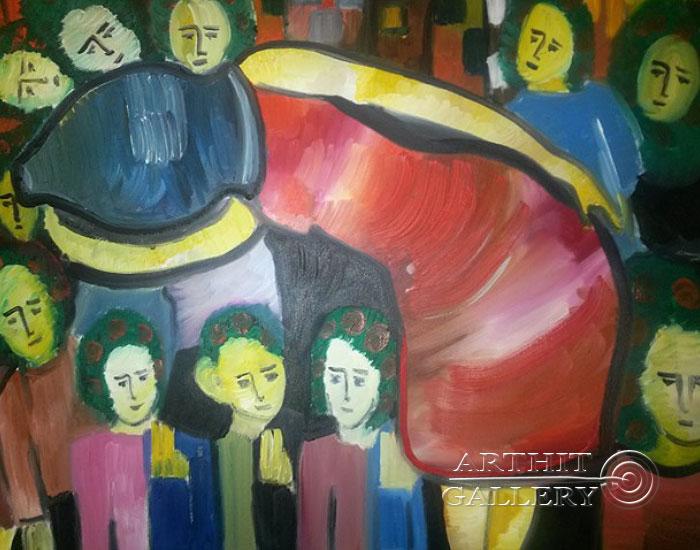 ''Отчужденная''.  Туманян Эмма. Продажа картин, предметов декоративно-прикладного искусства