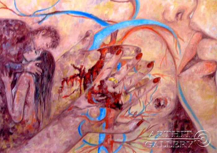 ''Сердце''.  Мец Екатерина. Продажа картин, предметов декоративно-прикладного искусства