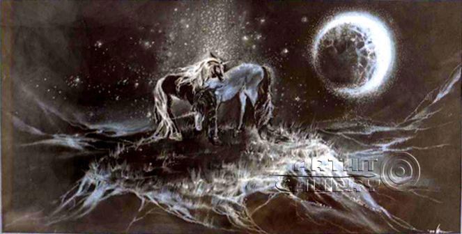 ''Единороги''.  Сочилина Милена. Продажа картин, предметов декоративно-прикладного искусства