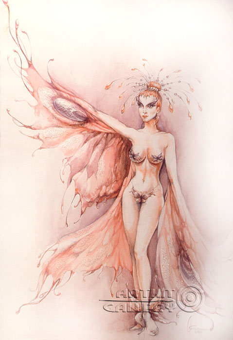 ''Триптих Женщины Венеры - Бабочка''.  Сочилина Милена. Продажа картин, предметов декоративно-прикладного искусства