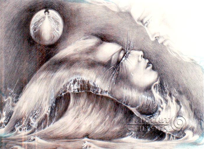 ''Волна''.  Сочилина Милена. Продажа картин, предметов декоративно-прикладного искусства