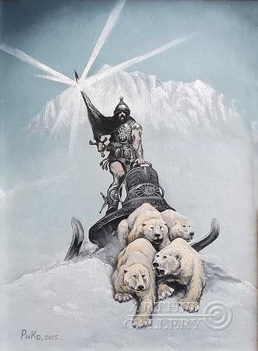 'Snow Knight (Based on Frazetta)'. Rimsky-Korsakov Yuriy