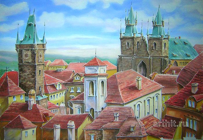 'Old Prague roofs'. Vinitskaya Larisa