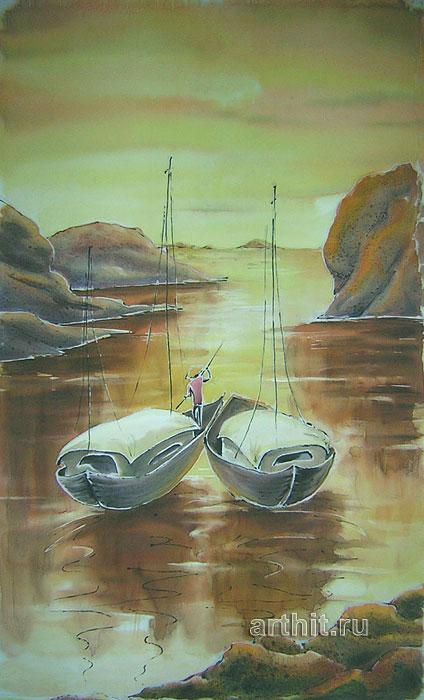 ''Закат''.  Виницкая Лариса. Продажа картин, предметов декоративно-прикладного искусства