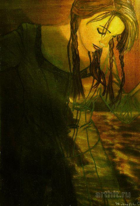 ''Гаваи Из серии `Ночные города`''.  Эхо Евгения. Продажа картин, предметов декоративно-прикладного искусства