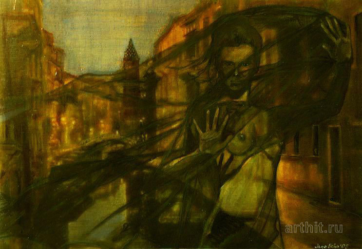 ''Венеция Из серии `Ночные города`''.  Эхо Евгения. Продажа картин, предметов декоративно-прикладного искусства