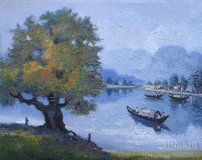 ''Бесконечное плавание''.  Шетти Сандхья. Продажа картин, предметов декоративно-прикладного искусства